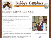 Bubbys Cookies website